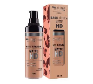 MAX LOVE BASE LIQUIDA MATTE HD 35ml 10 BEGE MEDIA