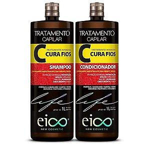 Kit Eico Shampoo+Condicionador Cura Fios 1Litro cada