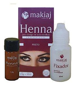 Henna Sobrancelhas Makiaj Preto 1,5g +10ml