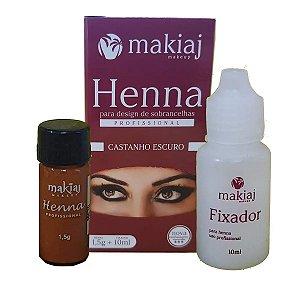 Henna Makiaj Castanho Escuro 1,5g +10ml