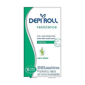 Depi Roll Folhas Prontas Facial 16 unid Cera Algas