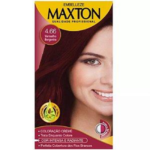 Tintura Maxton Kit 4.66 vermelho borgonha