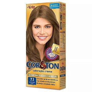 Tintura Cor&Ton 7.1 louro cinza medio