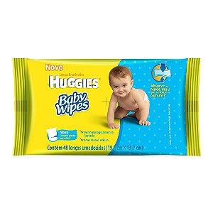 Toalhas Umedecido Baby Wipes c/48 Lenços (Amarelo)