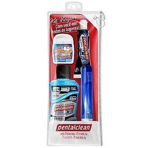 Kit Dental Viagem Dentalclean Escova+Fio+Creme+Enxaguat.