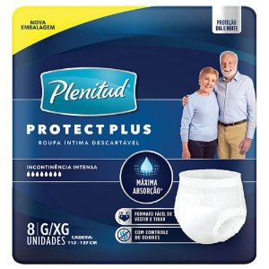 Fralda Plenitud Pants Protect Plus G/XG c/8 unid.