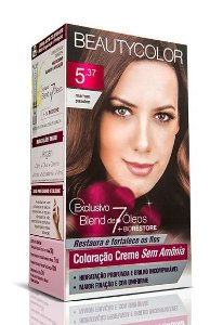 Tintura Beauty Color Sem Amônia 5.37 Marrom Passion