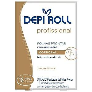 Depi Roll Folhas Prontas Corporal c/ 16 unid Tradicional