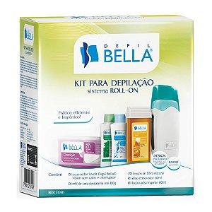 Kit Depilação Depil Bella (aquecedor/refi/lenço/oleo)Bivolt
