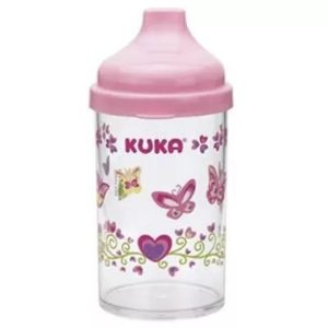 Copo Kuka Bico Anti Vazamento Rosa Ref: 6097