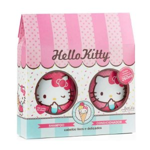 Kit Hello Kitty Shampoo e Condicionador  Lisos e Delicados