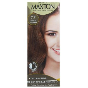 Tintura Maxton Kit 7.7 Marrom Cintilante