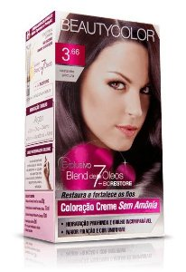 Tintura  Beauty Color Sem Amônia 3,66  castanho purpura