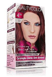 Tintura Beauty Color Sem Amônia 4.65 castanho purpura