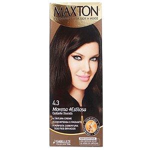 Tintura Maxton Kit 4.3 Castanho Dourado