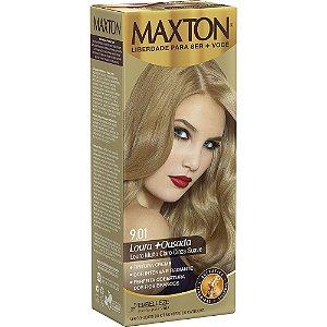 Tintura Maxton Kit 9.01 Louro Muito Claro Cinza Suave