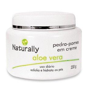 Naturally Pedra-Pomes em Creme Aloe-Vera 200g