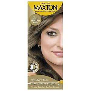 Tintura Maxton Kit 7.1 Louro Cinza