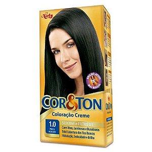 Tintura Cor&Ton 1.0 Preto Azulado