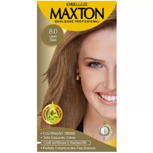 Tintura Maxton Kit 8.0 Louro Natural