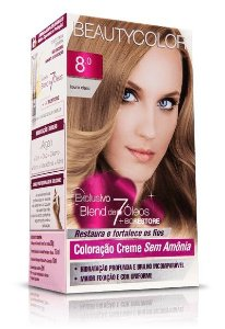 Tintura Beauty Color Sem Amônia 8.0 Louro Claro