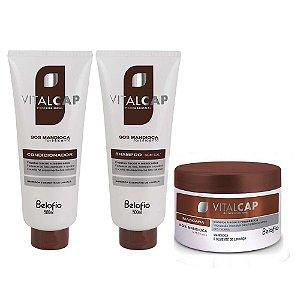 Kit Vitalcap Sos Mandioca (shampoo+condicionador+máscara)
