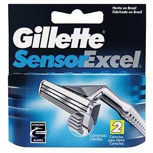 Carga Gillette Sensor Exel c/ 2 unid