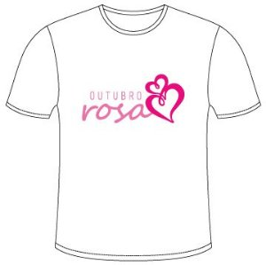 Camisetas do Outubro Rosa -  Modelo 1
