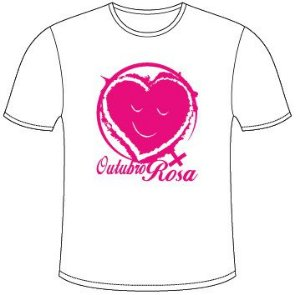 Camisetas do Outubro Rosa -  Modelo 3