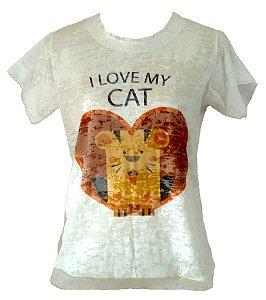 Camisetas Feminina - Coleção I love my Cat