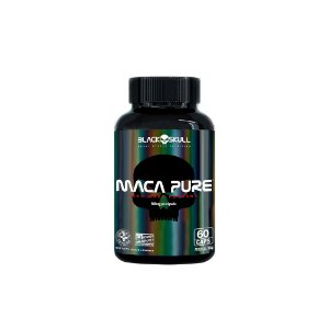 MACA PURE BLACK SKULL - 60 CAPS