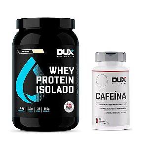KIT DUX - WHEY PROTEIN ISOLADO 900G + CAFEINA 90 CAPS DUX NUTRITION