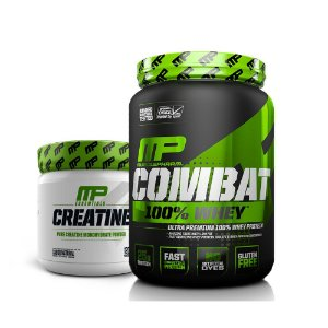 KIT MP 2 - COMBAT 100% WHEY 900G + CREATINE 300G