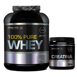 KIT PROBIÓTICA - 100% PURE WHEY 900G + CREATINA 300G