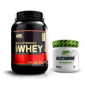 KIT - GOLD STANDARD ON 900G + GLUTAMINE MUSCLE PHARM 300G