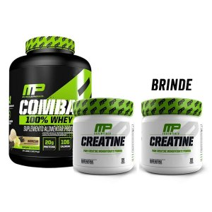 KIT MP - COMBAT 100% WHEY + CREATINE 300G + CREATINE 300G (600G TOTAL)