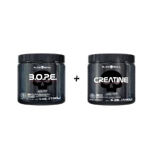 KIT BLACK SKULL - BOPE 150G + CREATINE 150G