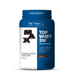 TOP WHEY 3W (PERFORMANCE) MAX TITANIUM - 900G (CAMPEÃO DE VENDAS DA CATEGORIA)