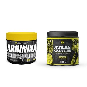 KIT - ARGININA 100% PURE ADAPTOGEN 100G + ATLAS CREATINA IRIDIUM 300G