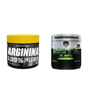 KIT - ARGININA 100% PURE ADAPTOGEN 100G + BETA FLEXX UNDER LABZ 200G