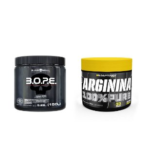 KIT - ARGININA 100% PURE ADAPTOGEN 100G + BOPE BLACK SKULL 150G