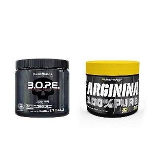 KIT - ARGININA 100% PURE ADAPTOGEN 100G + BOPE BLACK SKULL 150G