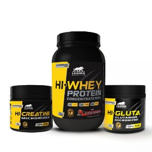 KIT LEADER 1 - HI WHEY 900G + HI CREATINE 150G + HI GLUTA 150G