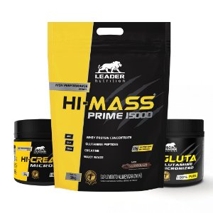 KIT LEADER 4 - HI MASS 3KG + HI CREATINE 150G + HI GLUTA 150G
