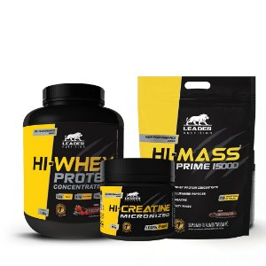 KIT LEADER 5 - HI WHEY 1,8KG + HI MASS 3KG + HI CREATINE 300G