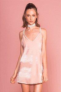 Vestido Pastel Velvet Rosé