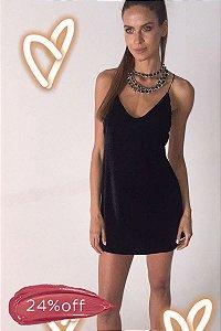 Vestido Black Velvet Preto