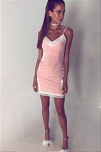 Vestido Lana Rosa Pastel