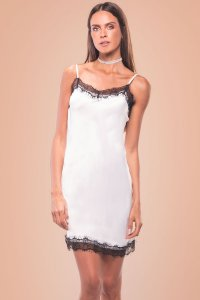 Vestido Late Night Branco + Choker Fancy