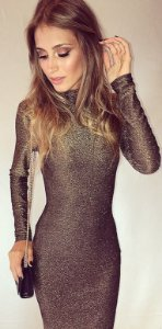 Vestido After Party Dourado